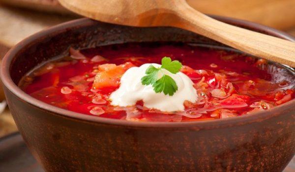 Красный борщ с мясом классический рецепт